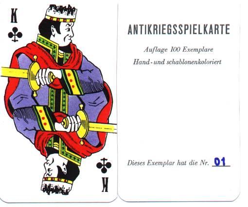 Antikriegsspielkarte